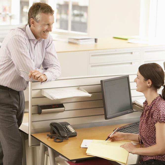 cubicle conversation